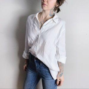J. JILL NWOT Linen Button Up Shirt white